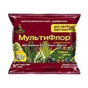 Удобрение МультиФлор для хвойных растений 50гр фото