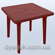 Стол пластиковый квадратный Бордовый фото