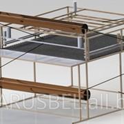 Полуавтоматическая установка для упаковки габаритных изделий в полимерную пленку. фото