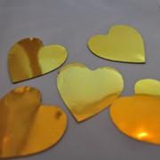 Сердечки золотые односторонние фото