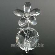 Цветок хрустальный / Ромашка на Бриллианте / 13 см / Прозрачный f15346 фото