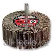 Круг шлифовальный Зубр веерный лепестковый, на шпильке, тип КЛО, зерно - электрокорунд нормальный, P80, 40х80м Код: 36604-080 фото