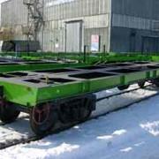 Вагоны грузовые железнодорожные платформы. Платформа для перевозки крупнотоннажных контейнеров, модель 13-9744-01 фото