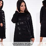 Платье женское миди свободного кроя PY/-007 - Черный фото