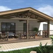 Проект одноэтажного двухкомнатного дома Гудаури 82,32 кв.м. из SIP панелей фото