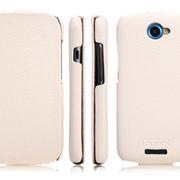 Чехол Icarer для HTC One S белая кожа фото