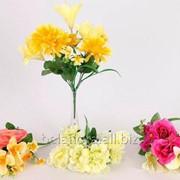 """Цветок искусственный """"Букет"""" микс окрасок арт. BU03497 фото"""