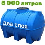 Резервуар для хранения воды и дизеля 5000 литров, синий, гор фото