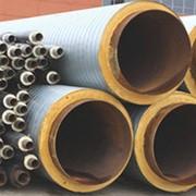 Труба стальная полиэтиленовая в ППУ с тепло изоляцией пенополиуретан фото