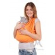 Слинг-шарф трикотажный светло-оранжевый фото