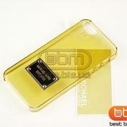 Накладка iPhone 5S (MICHAEL KORS) прозрачный золотой 73062g фото