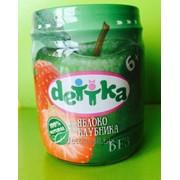 Пюре из яблока и клубники для детского питания ТМ DETTKA фото