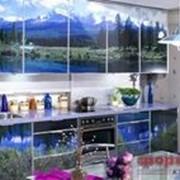 Кухня с фотофасадом (природа) фото