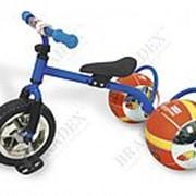 Велосипед с колесами в виде мячей БАСКЕТБАЙК синий Bike on ball фото