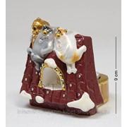 Подсвечник гипсовый Коты на крыше эк. 15838 фото
