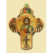 Крест рукописный Спас с Иисусом Христосом (195*155) Арт. И4332 фото