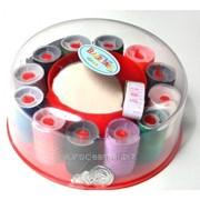 Швейный набор в пластиковой коробочке фото