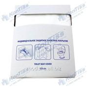 Профессиональные однослойные защитные туалетные покрытия 1/4 сложения из целлюлозы белого цвета торговой марки KonTiss ТДК-1-100 П фото