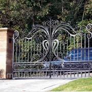 Садовые ворота с калиткой №26 фото