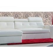 Кожаный угловой диван Bianko фото