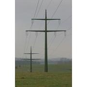 Опоры линий электропередач оцинкованные, мачты леп, опоры фото