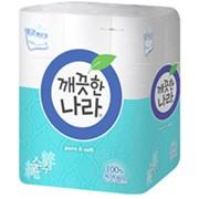 Туалетная бумага Clean World Pure, 40 метров, 12 рулонов фото