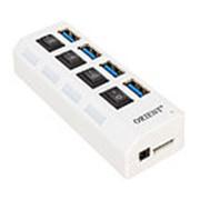 Хаб на 4 USB ZAF белый фото