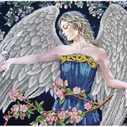 Схема для частичной вышивки бисером Ангельские крылья фото