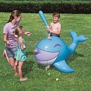 Надувной кит для игры в бейсбол Interactive Whale Ball-Pop Sprinkler фото