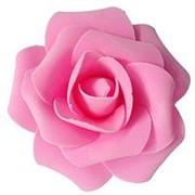 Декор свадебный Роза нежно-розовая 12см фото