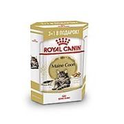Royal Canin 3+1*85г пауч Maine Coon Adult Влажный корм для кошек породы Мейн Кун с 15 месяцев фото