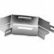 Угловой соединитель плоский к лотку 400х50 фото