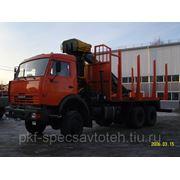 КамАЗ 53228 Сортиментовоз с КМУ ОМТЛ 97 за кабиной фото