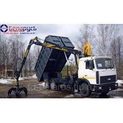 ломовозов МАЗ с гидроманипулятором, объем кузова 28,5 куб.м. фото