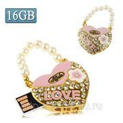 USB Flash накопитель - Бриллиантовая сумочка LOVE (16 GB) фото