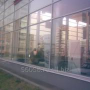 Перегородка секционная противопожарная светопрозрачная из алюминиевого профиля Eiw 30 фото