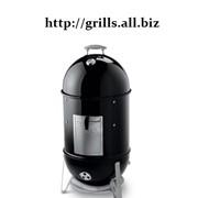 Коптильня угольная Smokey Mountain Cooker 47 см, ЧЕРНЫЙ фото