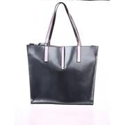 """Женская сумка Valenta из натуральной лаковой кожи цвета """" серый металлик"""" фото"""