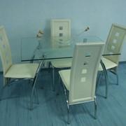 Стол обеденный из стекла DT1-005 фото