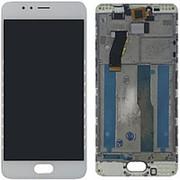 Дисплей для Meizu M5s белый в сборе с тачскрином на рамке фото