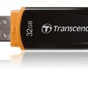 32Gb JetFlash 300 Transcend USB-флеш накопитель, USB 2.0, TS32GJF300, Чёрно-оранжевый фото