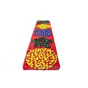 Коврик массажный с цветными камнями детский развивающий 200 х 40 см MS-1261 фото