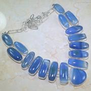 Серебряное ожерелье из агата фото