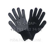 Перчатки нейлоновые, с точечным ПВХ покрытием фото