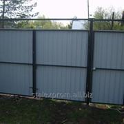 Ворота для заборов из металла фото
