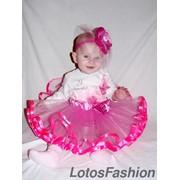 Детская юбка-пачка из фатина с лентой фото