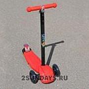 Самокат трехколесный Ateox с телескопическим рулем красный фото
