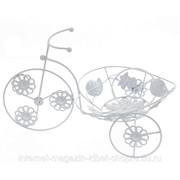 Подставка для цветов Велосипед, L36 W20 H22 см фото