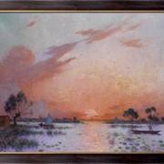 Картина Закат в Брие, 1925, Пюигадо, Фердинанд дю фото