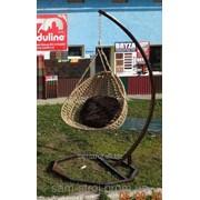 Кресло подвесное яйцо кокон на стойке + подушка фото